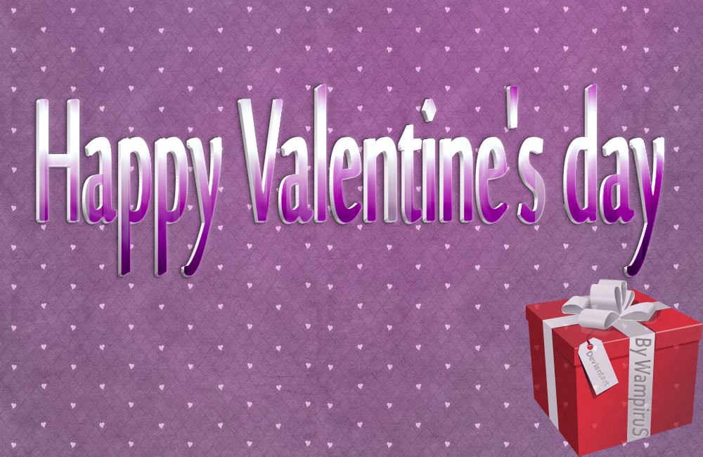 3D Valentine's day Text Effect .PSD