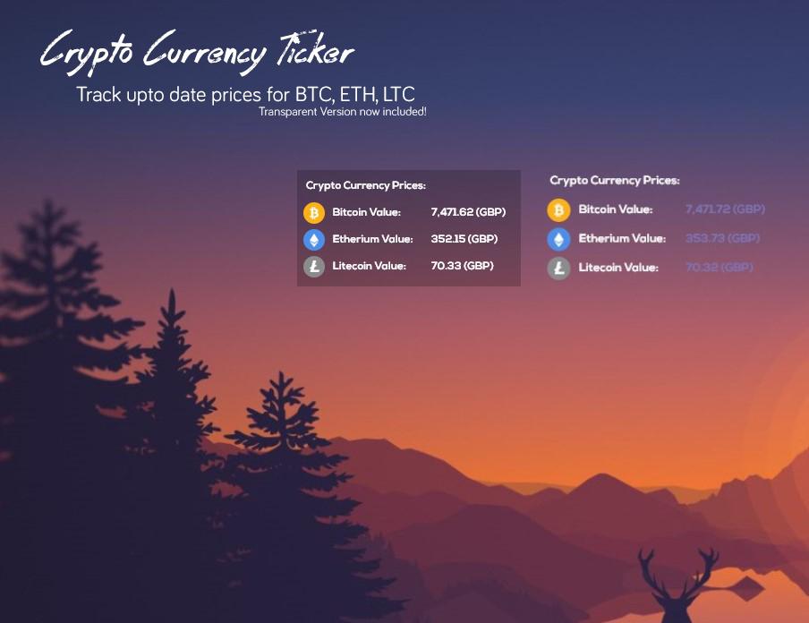 CryptoTicker 0.1b by jacko162
