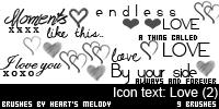 Photoshop Brushes: Icon text - Love (2) by ethie-chan