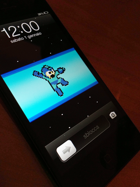 MegaMan IPhone 5 Lock Screen Wallpaper By Baglio