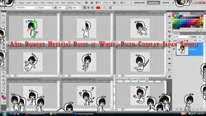 Hetalia Paint it White:Japan Picto Costume Shimeji