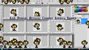 Axis Powers Hetalia: Cowboy America Shimeji DL