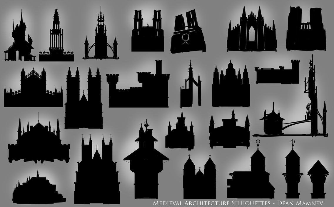 Medieval Architecture Brushpack and Shapes by DrD-no