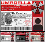 Umbrella Corp ID Tag