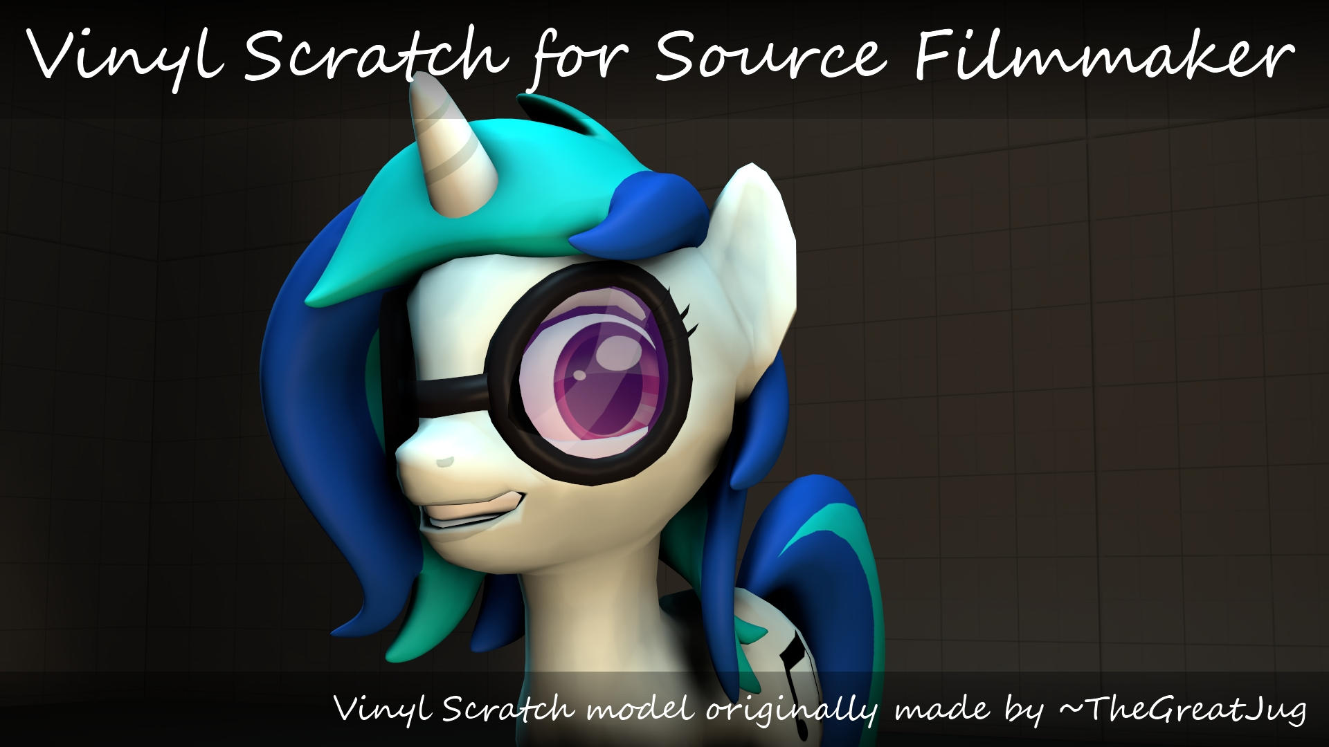 Vinyl Scratch made by TheGreatJug for SFM by FoxTail8000