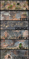 6 Free grunge brick textures by kropped
