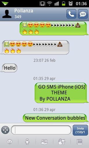 iphone message theme go sms iphone ios theme v1 8 apk by llenivra on deviantart 12033