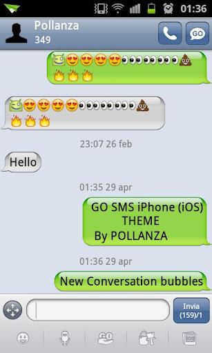 go sms iphone (ios) theme apk v2.92