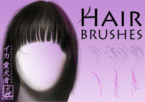 Hair Brushes for Photoshop by Aikensha