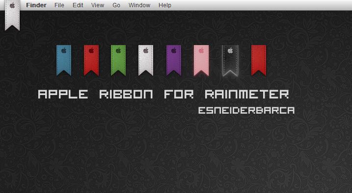 Apple Ribbon For Rainmeter by esneiderbarca