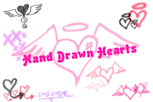 Hand Drawn Hearts s2 by ling by mzlingling