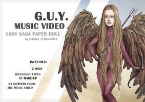 Lady Gaga Paper Doll: G.U.Y. by DibuMadHatter