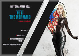 Lady Gaga Paper Doll: Yuyi the Mermaid