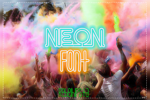 Neon Font by silly-luv