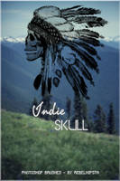 Indie Skull [Brush] by silly-luv