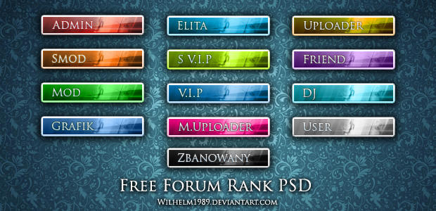 [recursos] Forum Ranks FREE_Forum_Buttons_or_Ranks_by_wilhelm1989