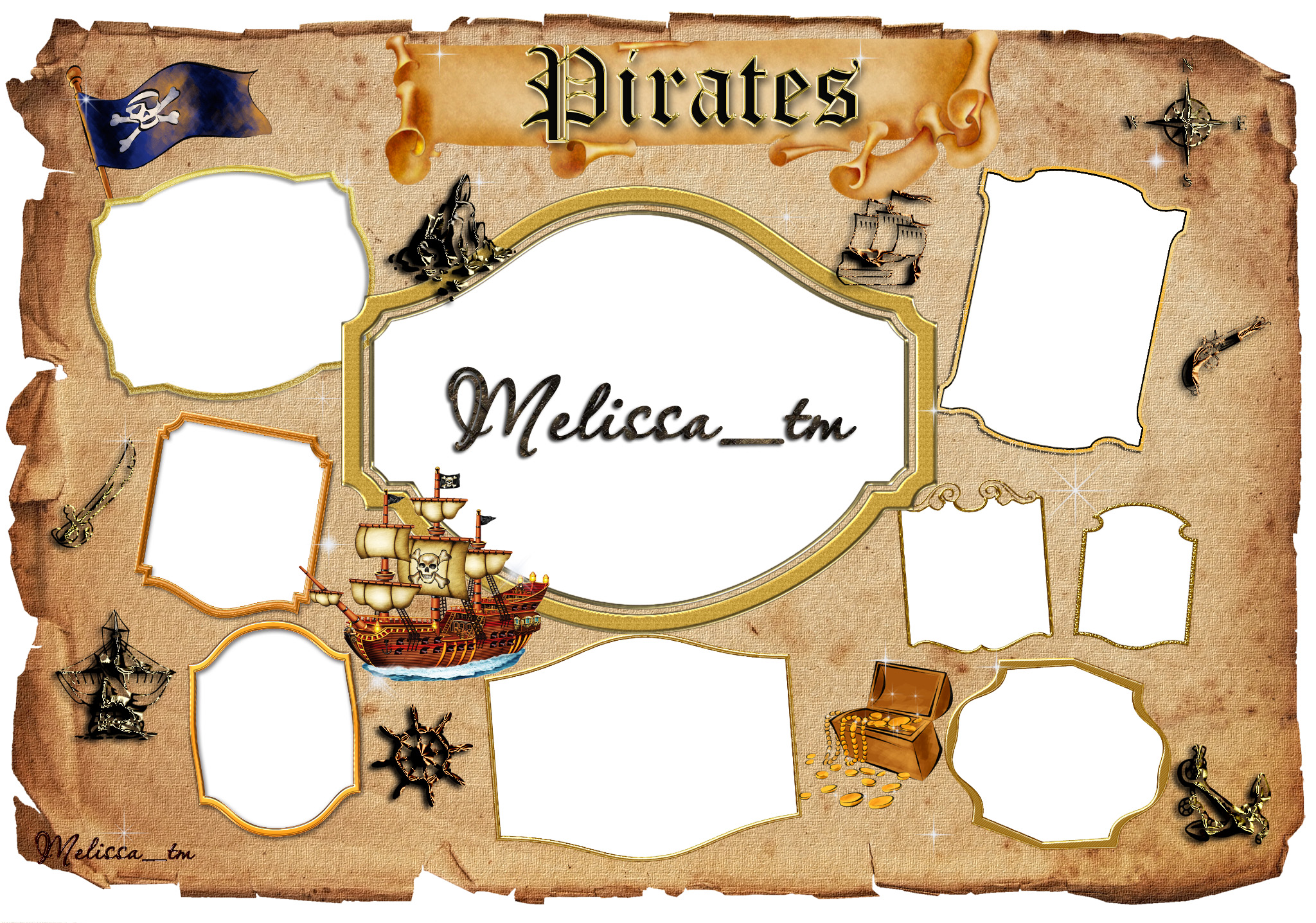 Pirates Frame by Melissa_tm PSD by Melissa-tm on DeviantArt