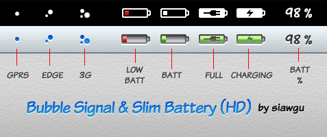 Bubble Signal and Slim Battery by siawgu