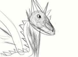 Geyser bub(Ashleah's dragon lol) by RavenCloudWarriorTom
