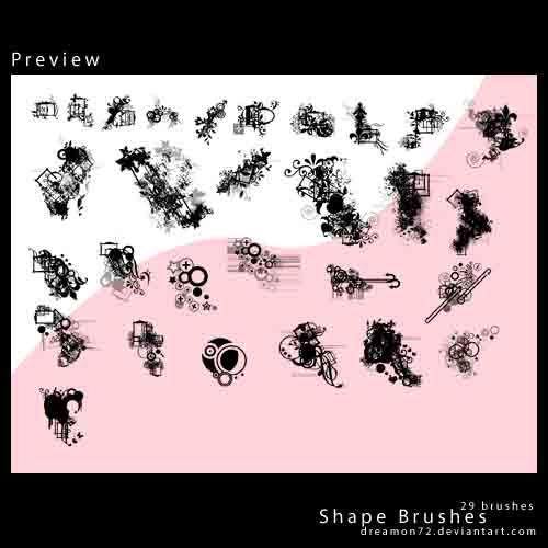 Dreamon Shape Brushes by dreamon72