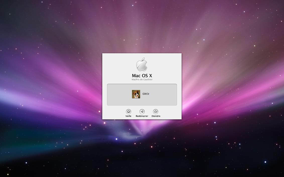 Logon Mac OS X Leopard by Gotier