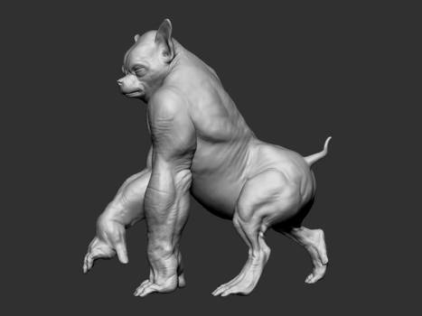 Posed creature turntable (GIF)