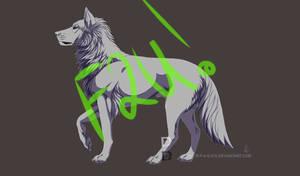 Free lineart wolf F2U