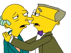 Burns and Smithers Kissing by girlperson2235