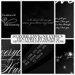 Avril Lavigne Lyrics Textures