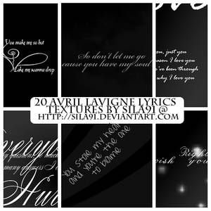 Avril Lavigne Lyrics Textures