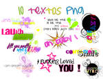 Primer pack de text  png +
