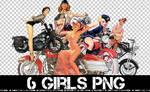 6 PNG GIRLS +
