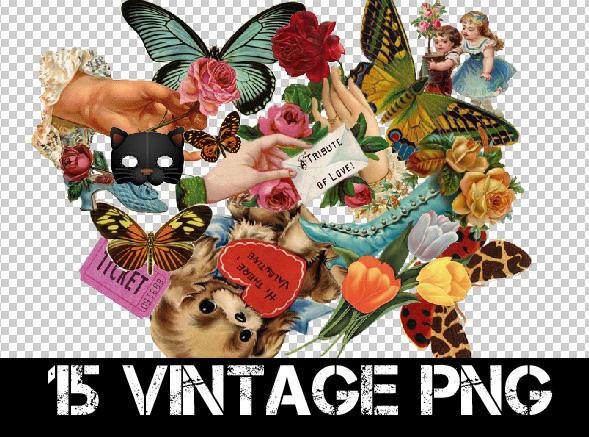 15 VINTAGE PNG + by Discopada