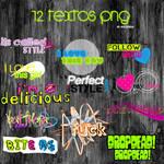 12 TEXTOS PNG +