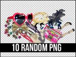 10 RANDOM PNG +