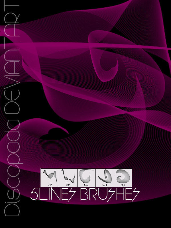 5 LINES BRUSHES + by Discopada
