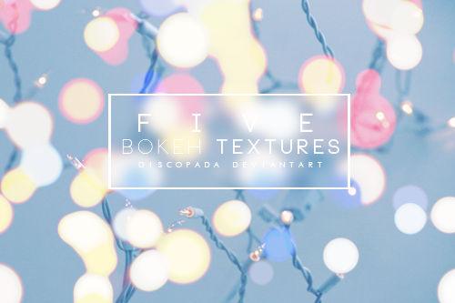 Five Bokeh textures