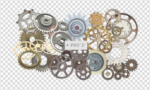 Gears pngs by Discopada