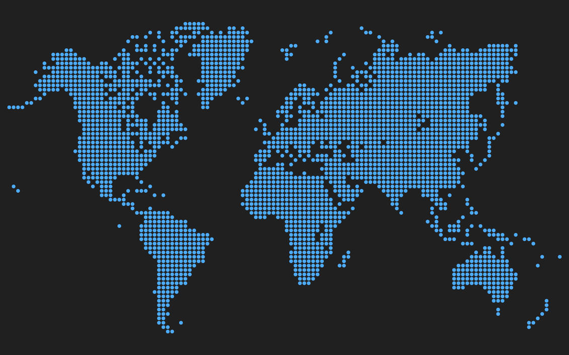 Dots world map by snowfleikun on deviantart dots world map by snowfleikun gumiabroncs