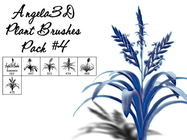 Angela3D Plant Brushes Set 4 by angela3d