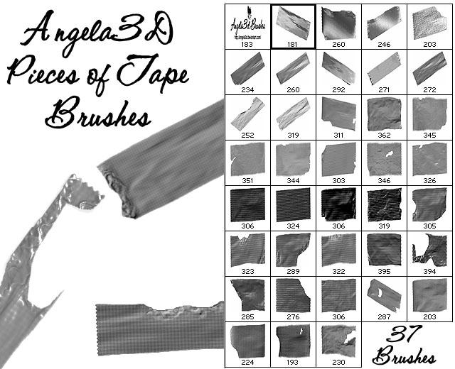A3D Pieces of Tape Brushes by angela3d