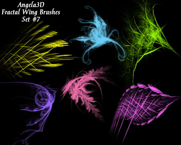 A3D Fractal Wings Set 7 by angela3d