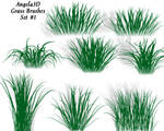 A3D Grass Brushes by angela3d