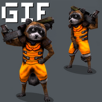 Rocket Low Poly by Littlenorwegians