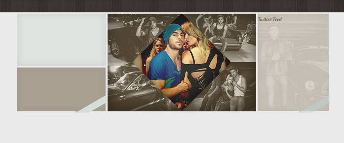 Zac Efron psd template