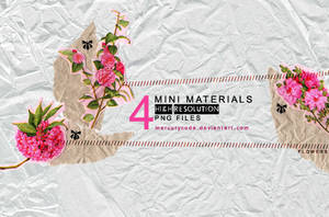 4 Materials: pink flowers
