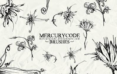 Brushset 01: scribble flowers