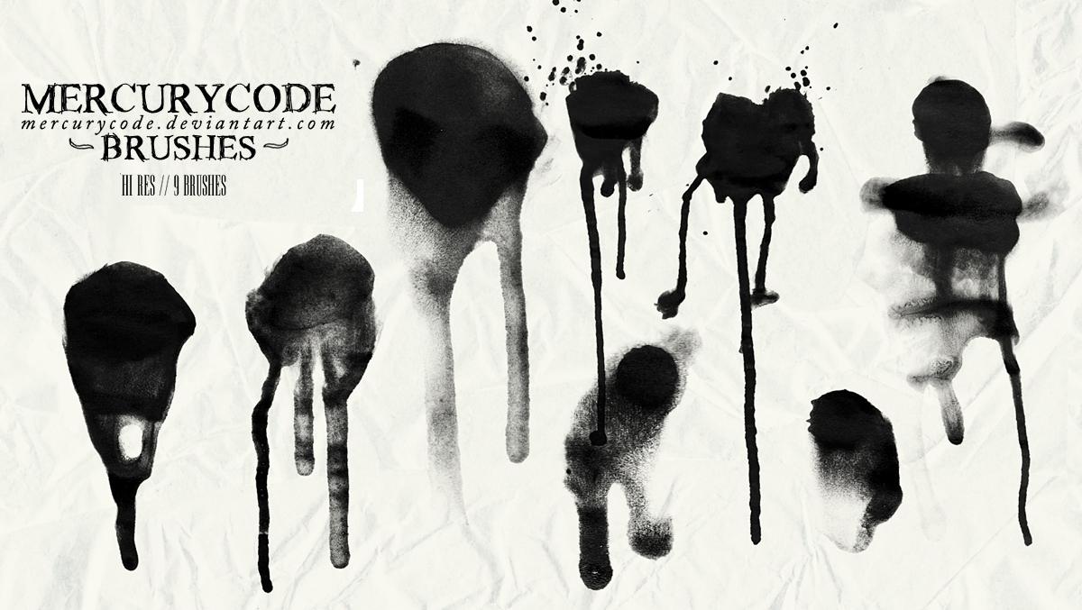 Brushset 04: graffiti [HIGH RES] by mercurycode