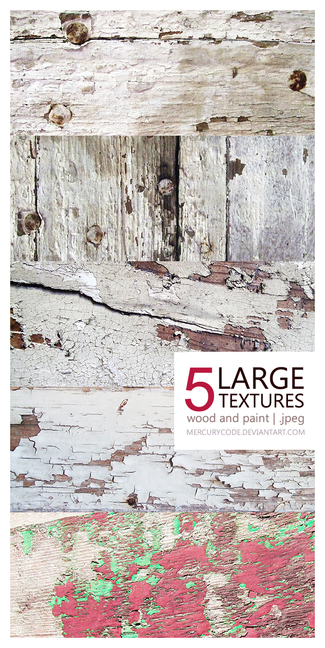 Texture Pack 02: wood and paint [5 LARGE IMAGES]