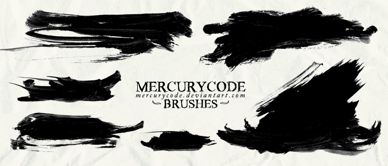 Brushset 08: paint strokes [HIGH RES] by mercurycode on DeviantArt